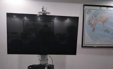 刘潭服装办公区设立电视电话会议室,利于即时信息共享
