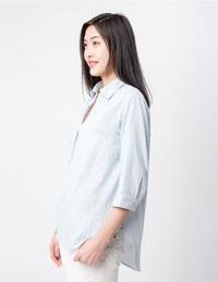 双层纱全棉衬衫