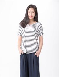 女式条纹针织衫