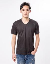 男式针织V领T恤