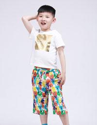 男童七分沙滩裤