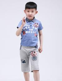 儿童印花POLO衫