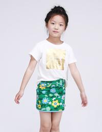 女童印花短袖