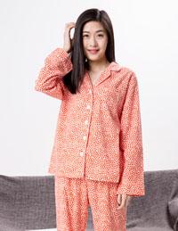 女式豹纹长袖睡衣