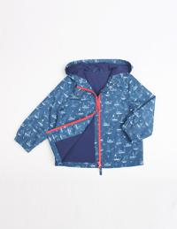 男童休闲印花长袖外套