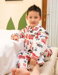 男童长袖印花卡通睡衣