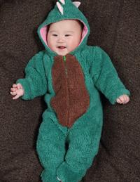 婴儿连体小恐龙爬爬装