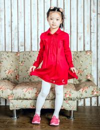 女童长款长袖衬衫