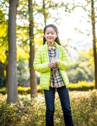 女童纯色长袖外套