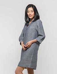 麻棉衬衣裙