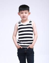 男童条纹背心