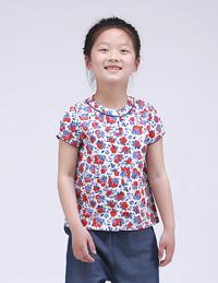 印花短袖衬衫