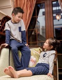 儿童条纹睡衣
