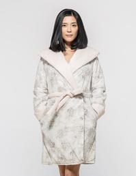 全棉棉睡袍