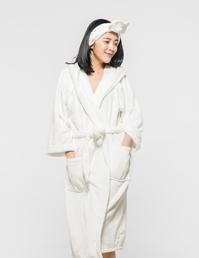 法兰绒睡袍