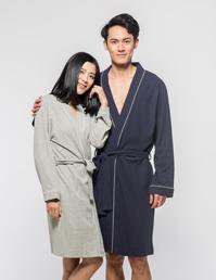 情侣针织睡袍