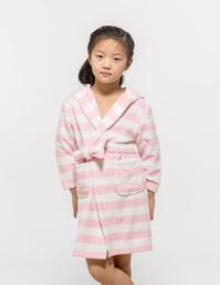 毛巾布彩条睡袍