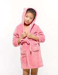 女童法兰绒卡通睡袍