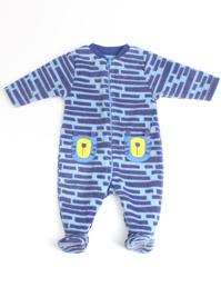 婴儿摇粒绒印花连体衣