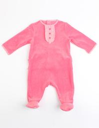 婴儿天鹅绒面料连体衣